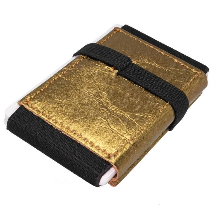 ANDERS&KOMISCH Portemonnaie Mini Wallet (Gold, Schwarz, Latex)