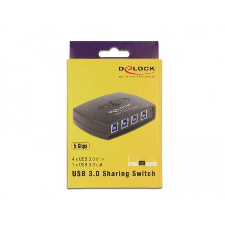 Delock 87724 USB3.0 Sharing Switch: 4Po