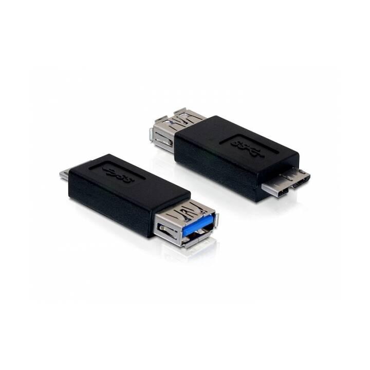 DELOCK Adattatore (Micro USB 2.0 Tipo-B, USB 3.0 Tipo-A)