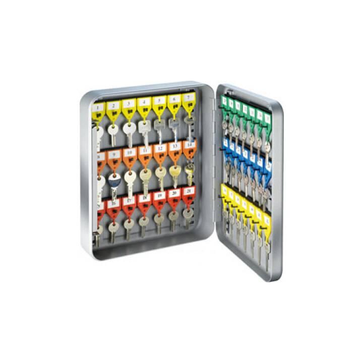 RIEFFEL KyStor Schlüsselkasten, Grau, 42 Schlüssel
