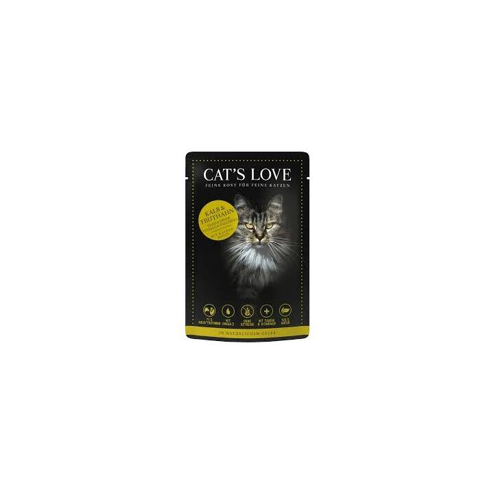 CAT'S LOVE Nassfutter (Adult, 85 g, Kalb, Truthahn)