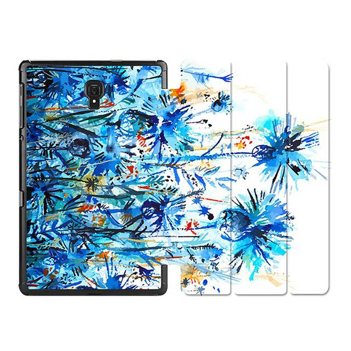 "EG MTT Custodia per Samsung Galaxy Tab A 10.1"" 2019 - Fiore blu"