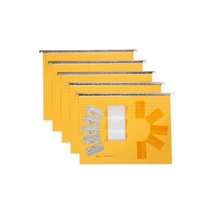 BIELLA file di sospensione, A4, giallo