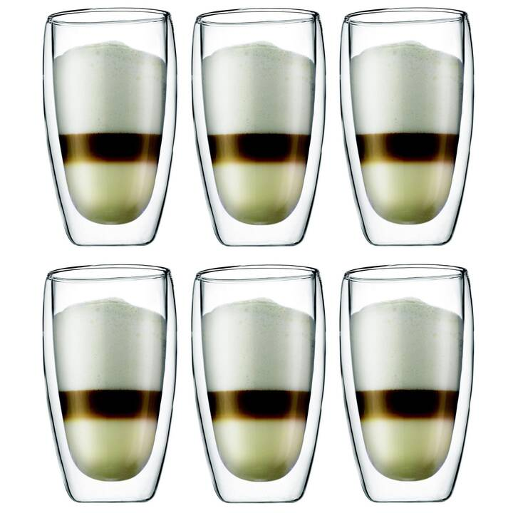 BODUM Verre à café Pavina (0.45 l, 6 pièce)