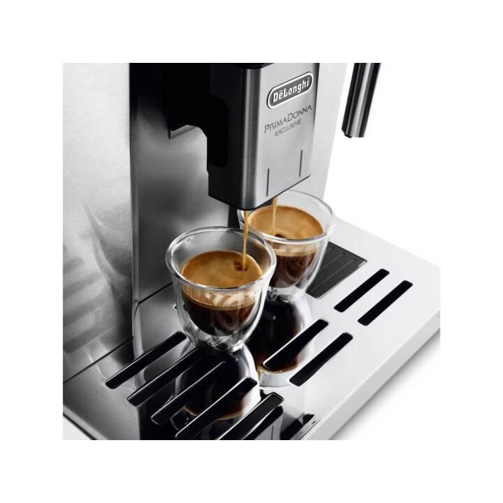 DELONGHI PrimaDonna Exclusive ESAM 6900.M (Silber, Schwarz, 1.4 l, Kaffeevollautomat)