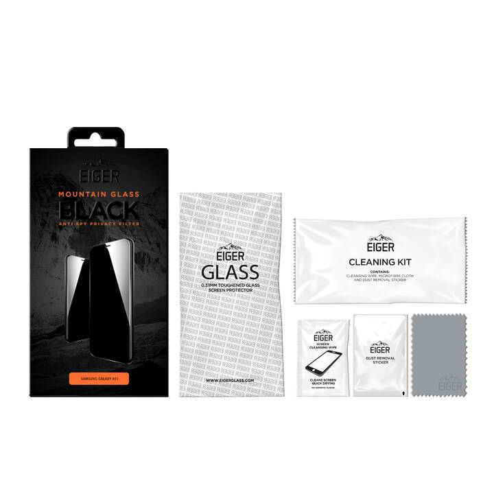 EIGER Displayschutzglas Mountain Black Privacy (Galaxy A51)