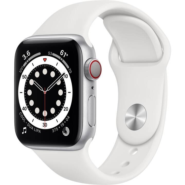 APPLE Watch Series 6 GPS + Cellular (40 mm, Alluminio, Silicone)