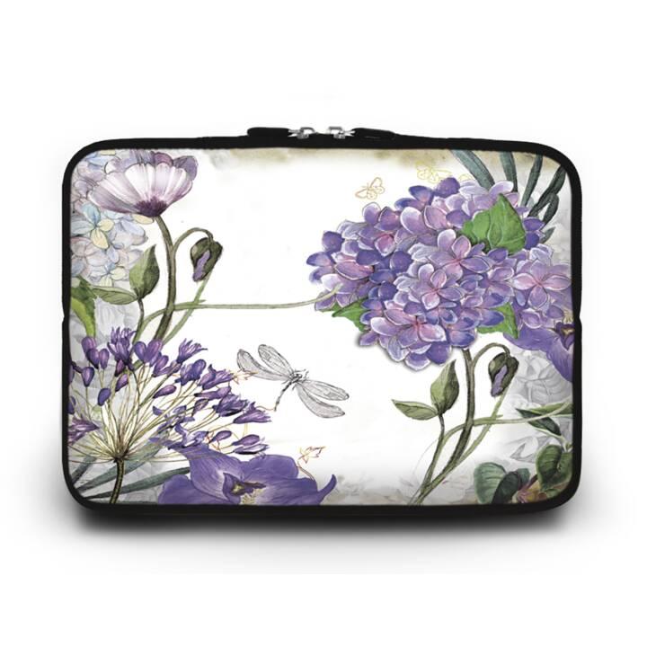 """EG HUADO Housse d'ordinateur portable pour 10"""" - Fleurs violettes"""