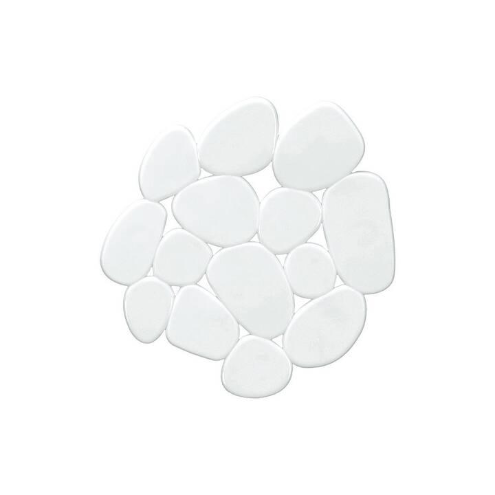 KLEINE WOLKE Tapis antidérapants pour baignoires Minis Sassolino (5 x 1 cm, Blanc)