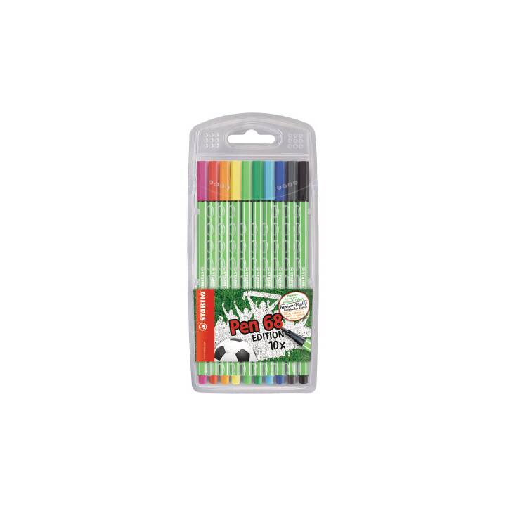STABILO Stylo-fibre 1 mm Green Edition 10 pcs.