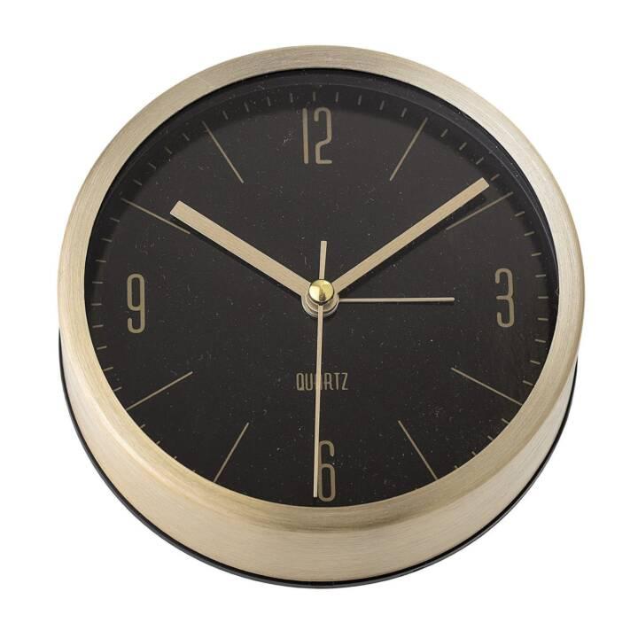 BLOOMINGVILLE Horloge murale analogique (11.5 cm, Noir, Doré)