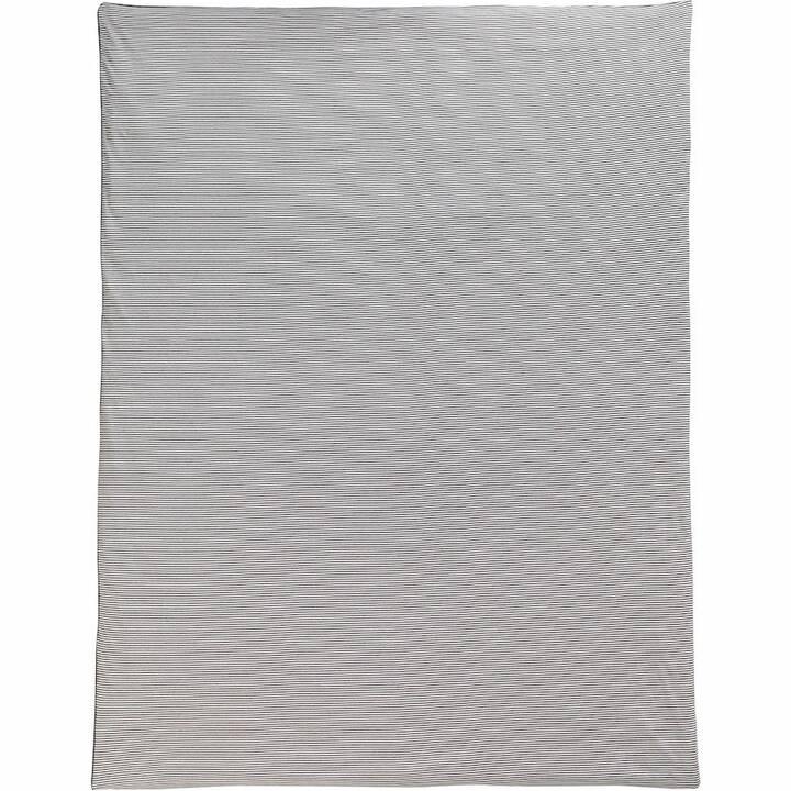 LIVIQUE Housse de couette Hampton (200 cm x 210 cm, Anthracite)