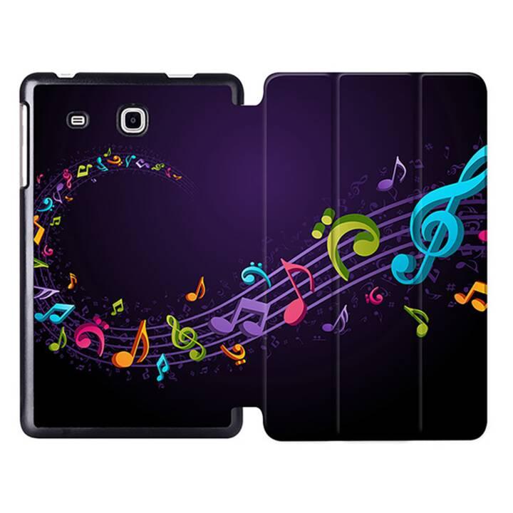 """EG MTT Sacoche pour tablette avec étui pliable Smart pour tablette Samsung Galaxy Tab A6 7"""" A6 - Music Sheet Music"""