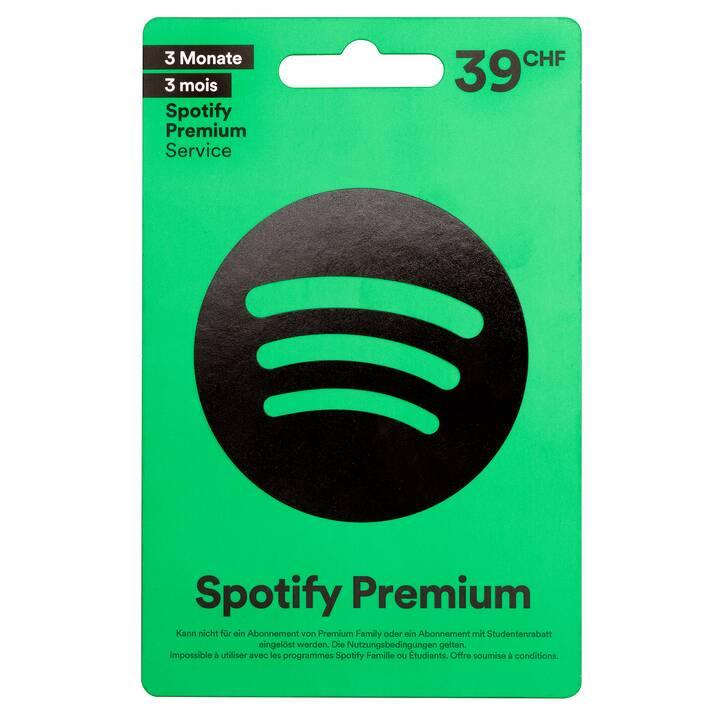 SPOTIFY Premium  Carte cadeaux CHF 39.-