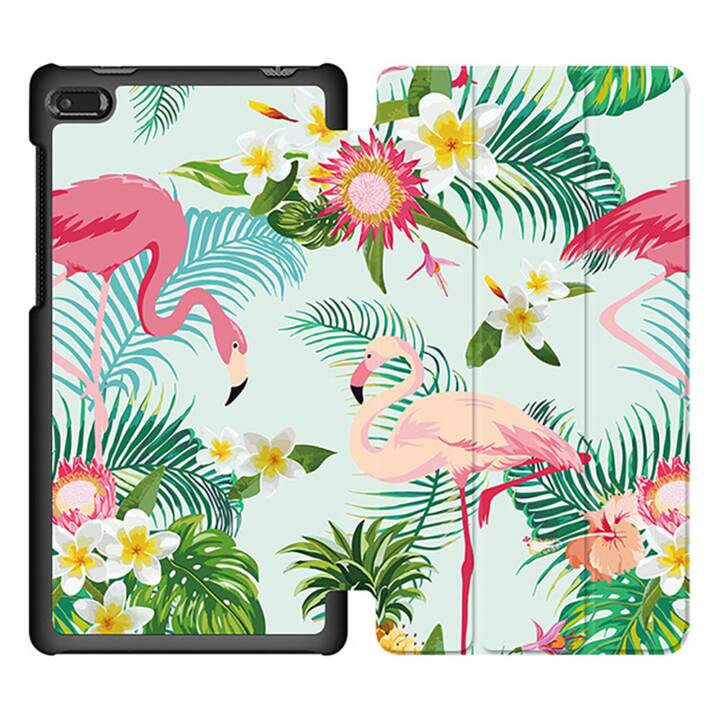 """EG MTT Sacoche à comprimés avec couvercle rabattable pour Lenovo Tab 7 Essential 7"""" - Flamingo"""