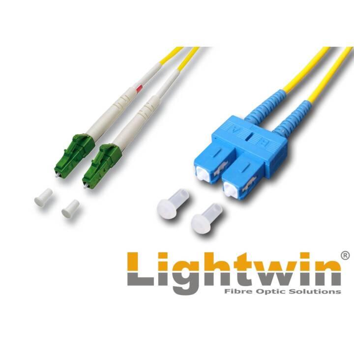 LIGHTWIN LC/APC-SC OS2 5m 5m LC/PC SC Gelb Glasfaserkabel