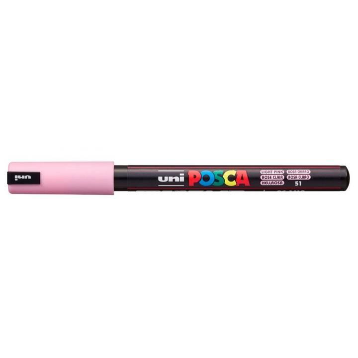 UNI Permanent Marker Posca Softcolors (Rosa, 1 Stück)