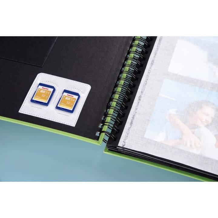 HAMA Étui pour carte mémoire (5 pc, Transparent, Blanc)