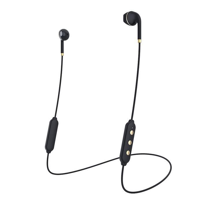 HAPPY PLUGS Wireless II (In-Ear, Bluetooth, Oro, Nero)