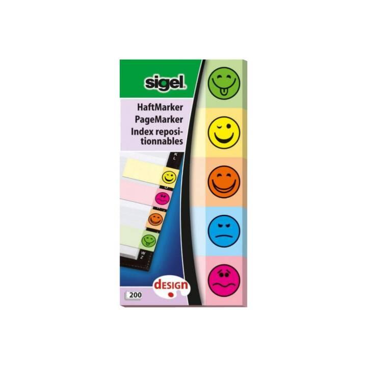 SIGEL Blocchetti memo (20 mm x 50 mm, Giallo, Verde, Arancione, Blu, Pink)