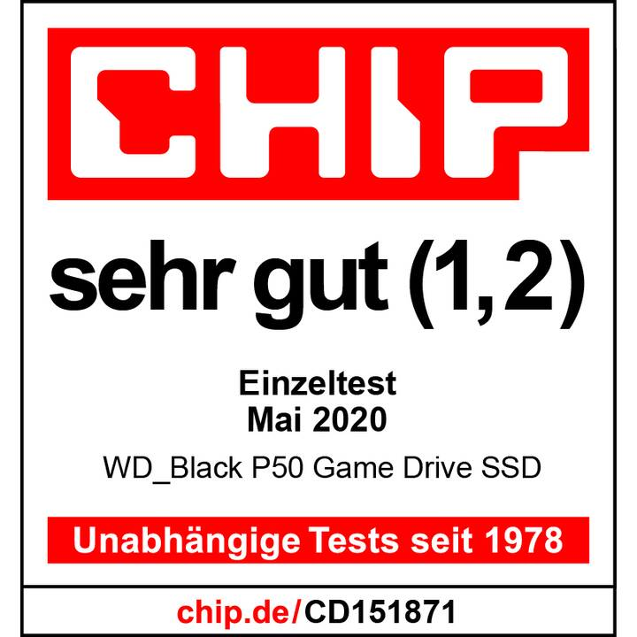 WD_BLACK P50 Game Drive (USB Tipo C, 1000 GB, Nero)