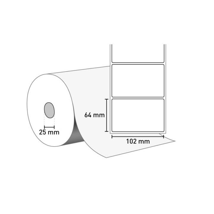 ZEBRA Etiketten Z-Select 2000T, 3007206-T, 1100 Stück