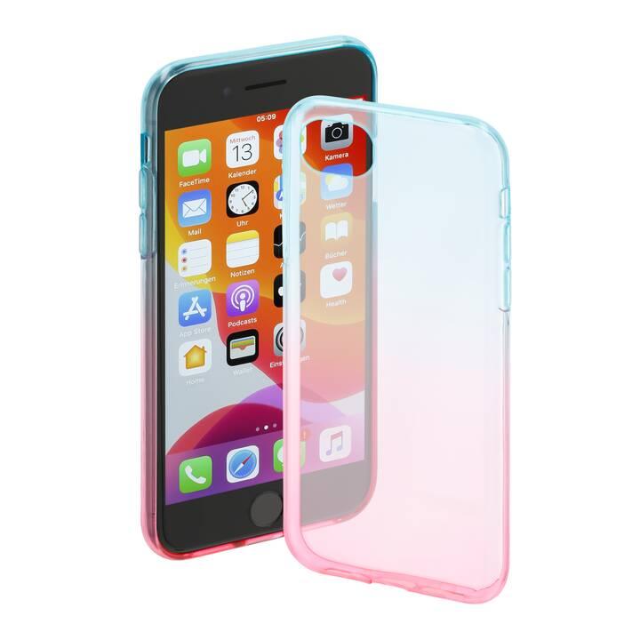 HAMA Backcover (iPhone 6, iPhone 6s, iPhone 7, iPhone 8, iPhone SE 2020, Blu, Rosa)