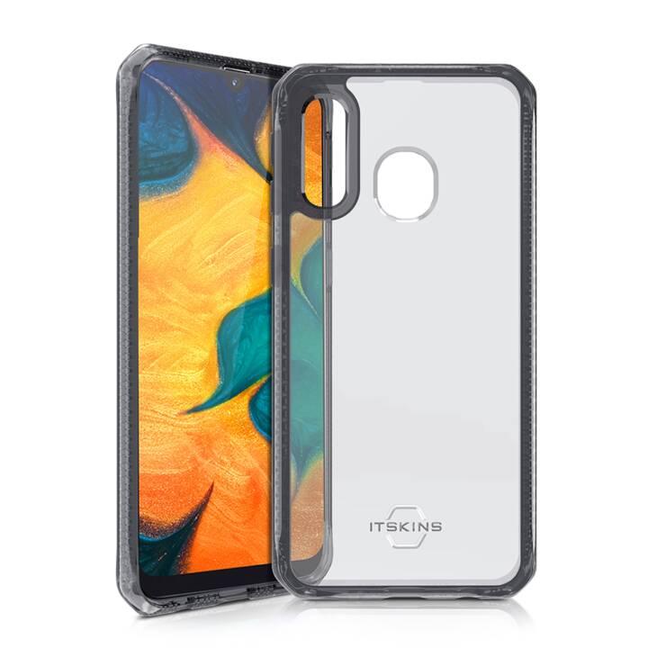 ITSKINS Backcover Hybrid Clear (Galaxy A40, Noir, Transparent)
