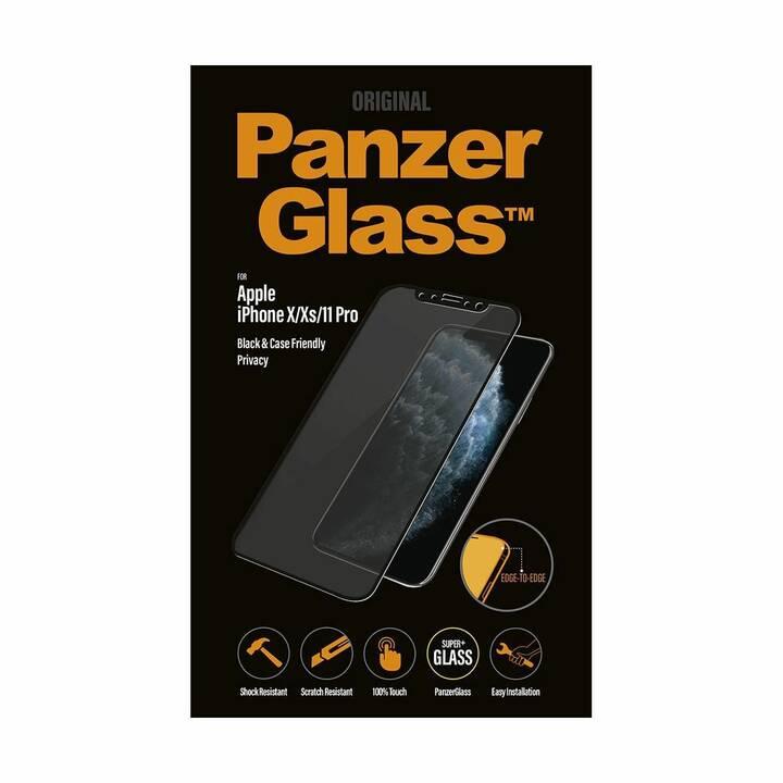 PANZERGLASS Sfoglio protezione da schermo Privacy (Altamente trasparente, Cristallino, iPhone 11 Pro, iPhone X, iPhone XS)