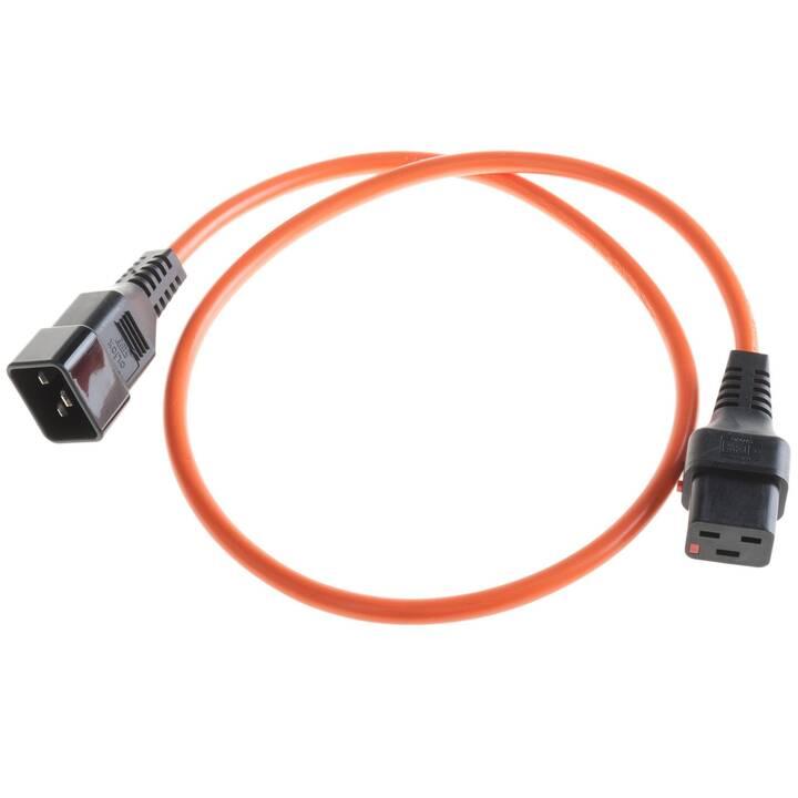 IECLOCK Stromkabel (C19 / C20, 3 m, Orange)