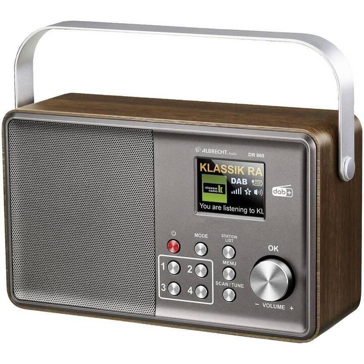 ALBRECHT DR 860 Senior Radio per cucina / -bagno (Marrone, Argento)