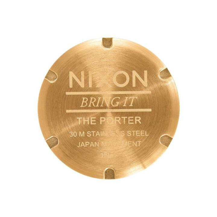 NIXON Porter All Gold Black Sunray (Analoguhr, 40 mm)