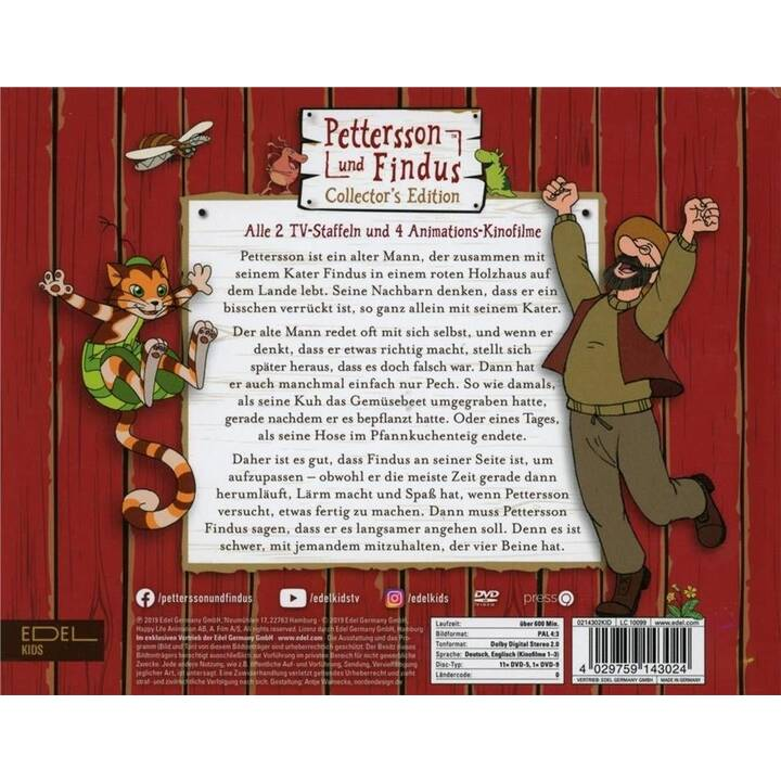 Pettersson und Findus - Alle Staffeln und Kinofilme in einer Box Stagione 1 - 2 (DE)