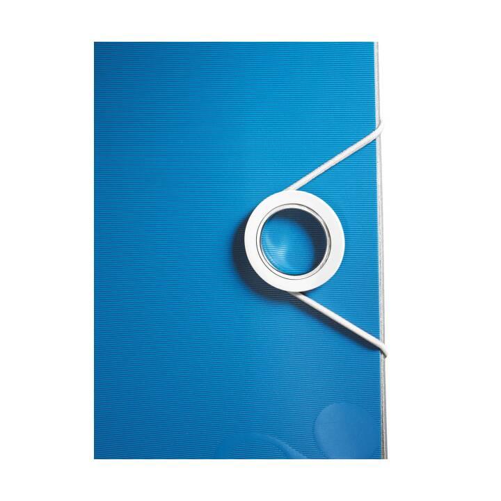 Chemise LEITZ 180° WOW A4 5 cm bleue