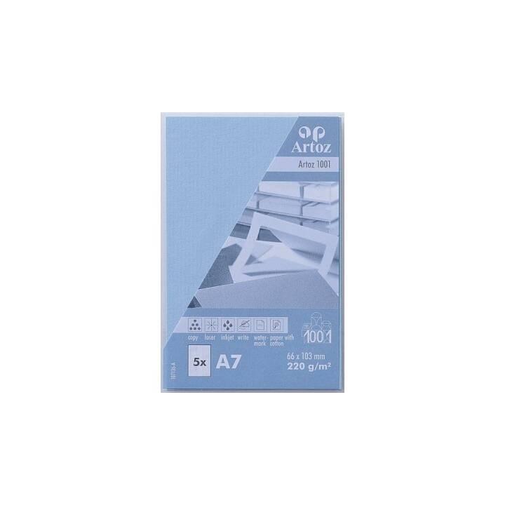 ARTOZ Visitenkarten 1001 A7 Blau - 5 Stück