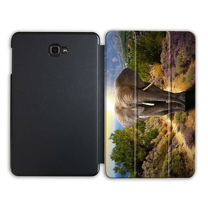 """EG MTT Tablet Tasche mit Smart faltbare Abdeckung für Samsung Galaxy Tab A 10.1"""" (2016)- Elefant"""