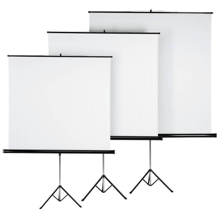 Ecran HAMA avec trépied, 180 x 180 cm, blanc