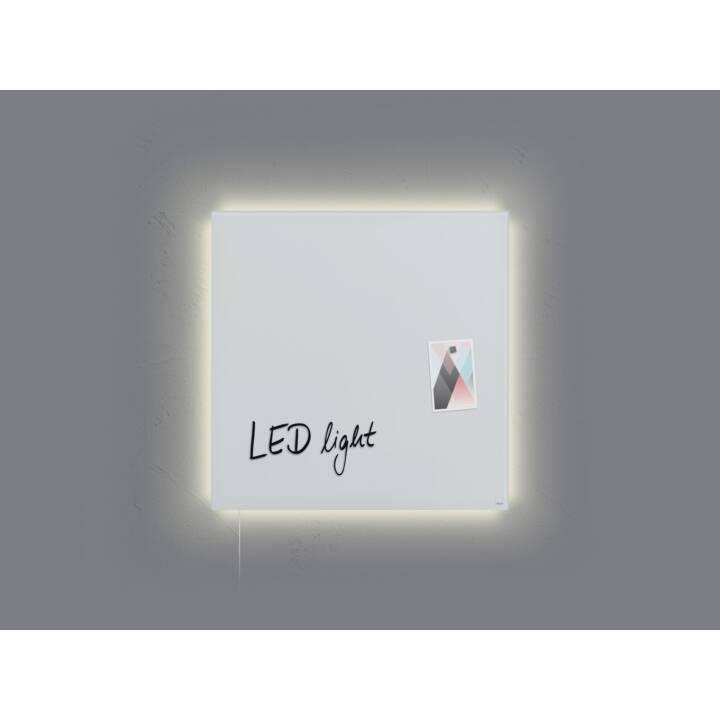 SIGEL Panneau de verre LED artverum Blanc