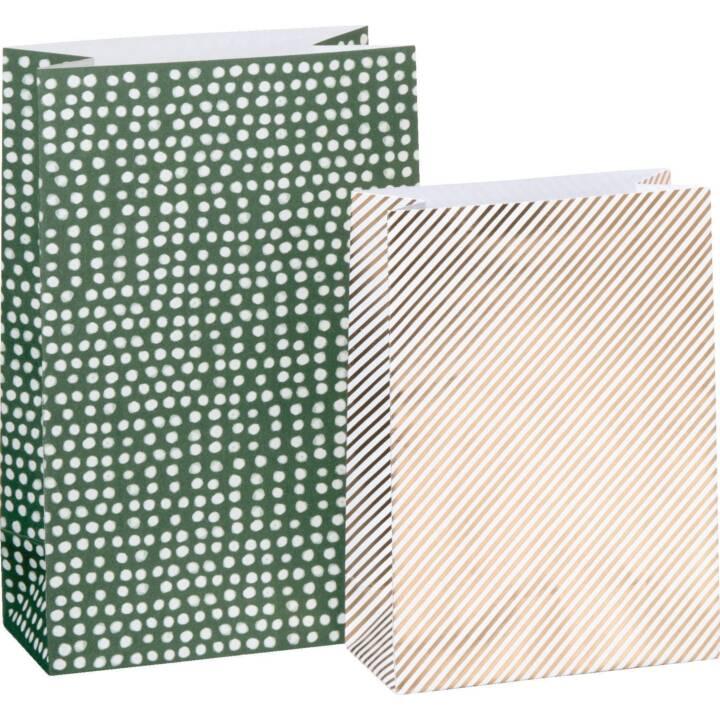 STEWO Sachet cadeau Ellewood (Blanc, Vert, Noël)
