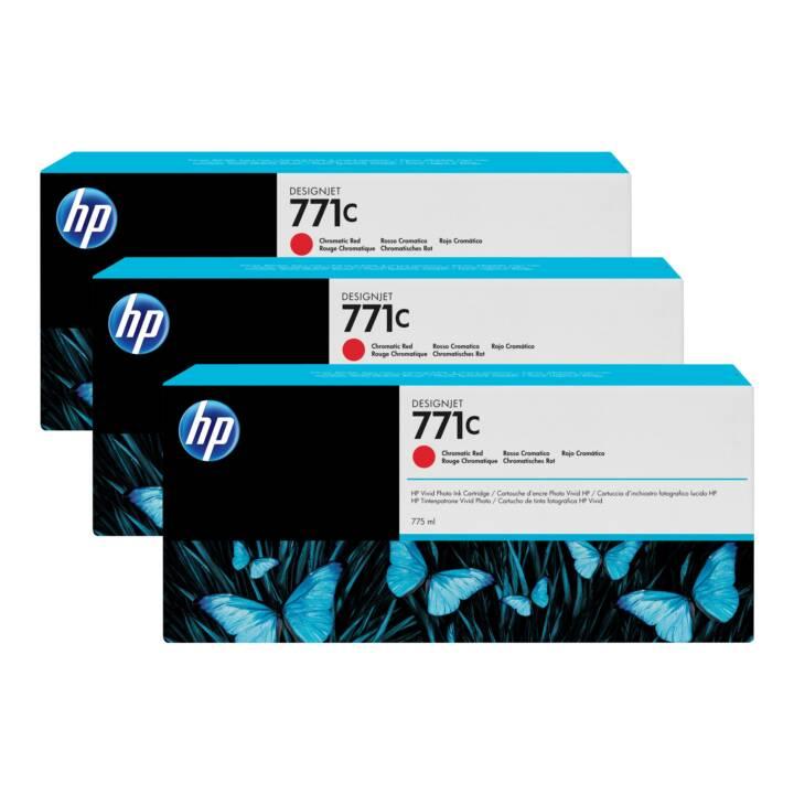 HP Originalpatrone 3-Pack Chromatic Red