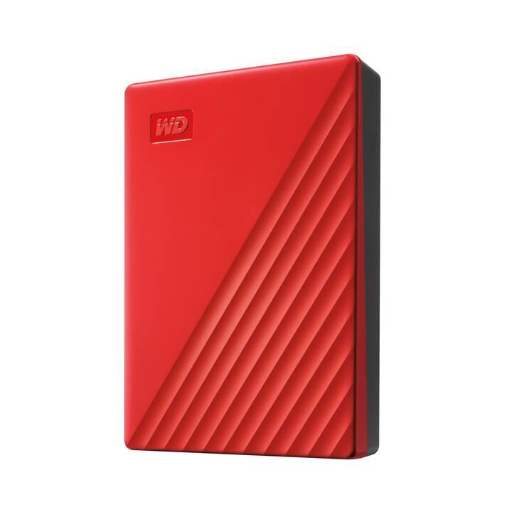 WD My Passport (USB 3.0, 4 TB, Rot)