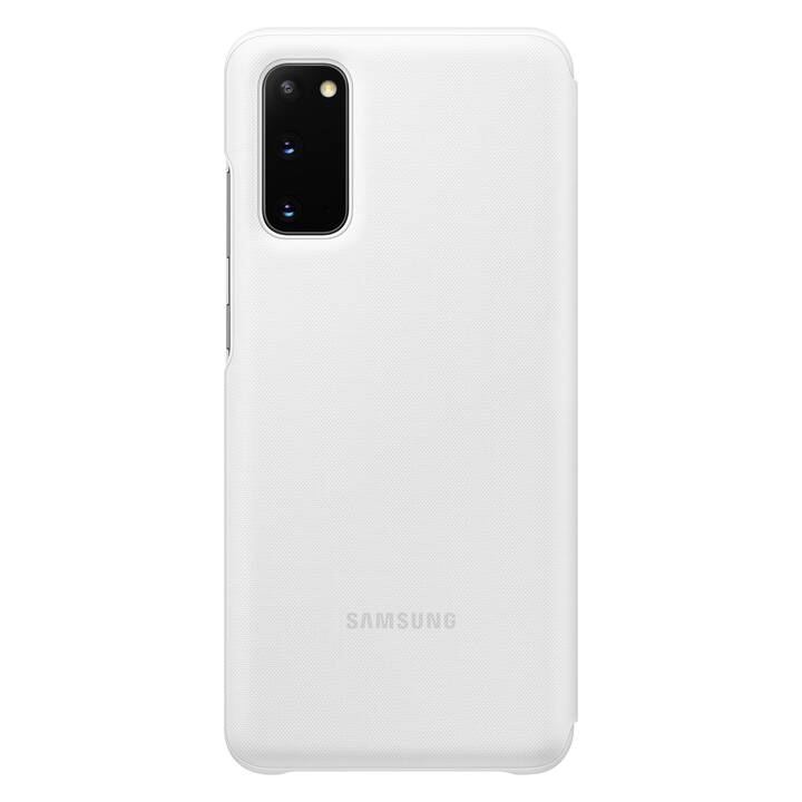 SAMSUNG Flipcover Book LED (Galaxy S20, Bianco)