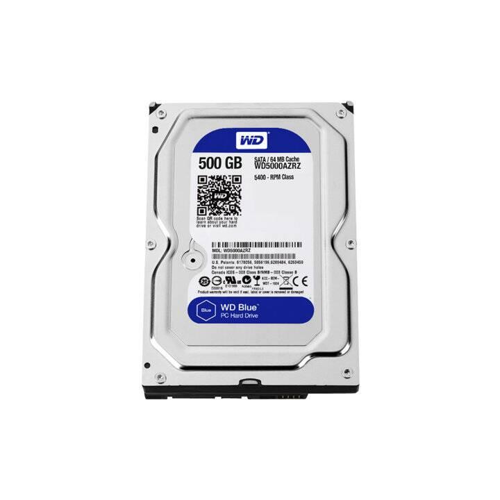 WD Blue (SATA-III, 500 GB, Schwarz)