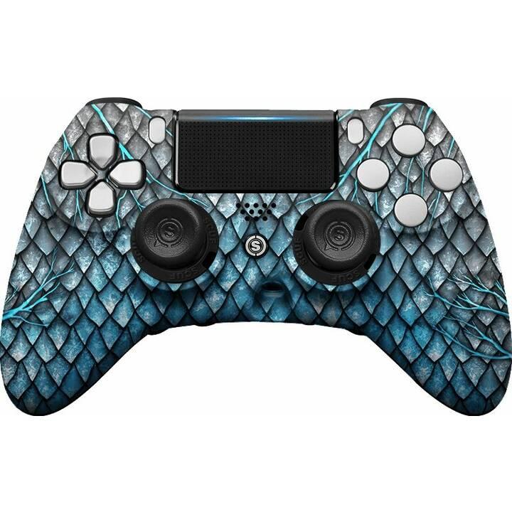 SCUF GAMING Impact - Blue Dragon Gamepad (Blu, Grigio)