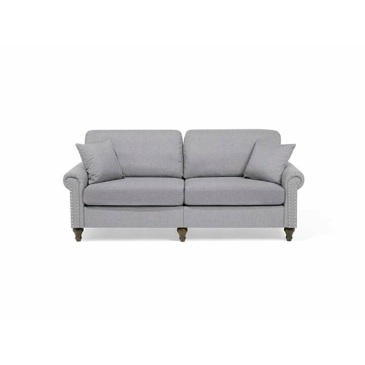 BELIANI Otra Sofa Set (Polyester, Grau, 195 cm x 84 cm)