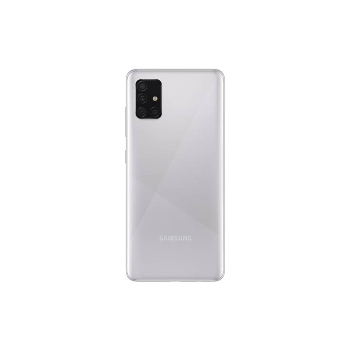 "SAMSUNG Galaxy A51 (6.5"", 128 GB, 48 MP, Prism Crush Silver)"