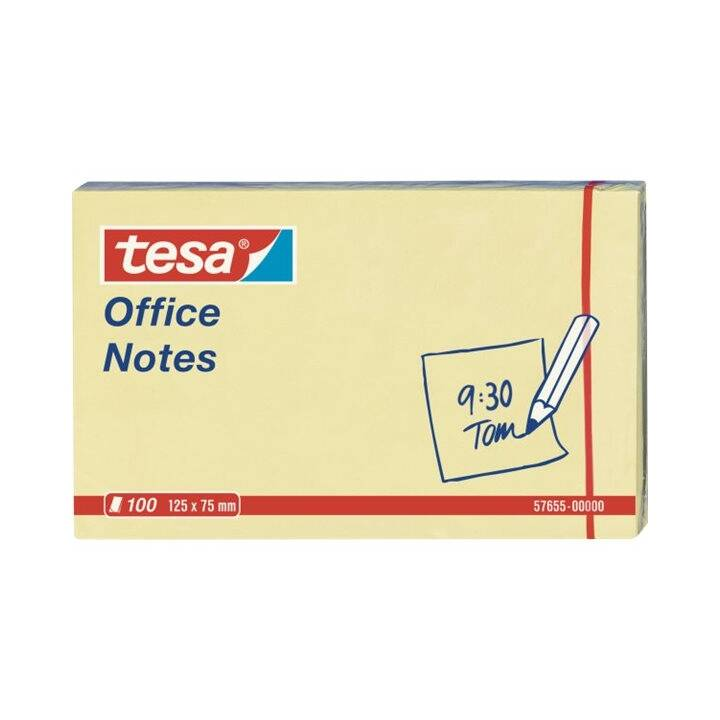 TESA Haftnotizen Office Notes (75 mm x 125 mm, Gelb)