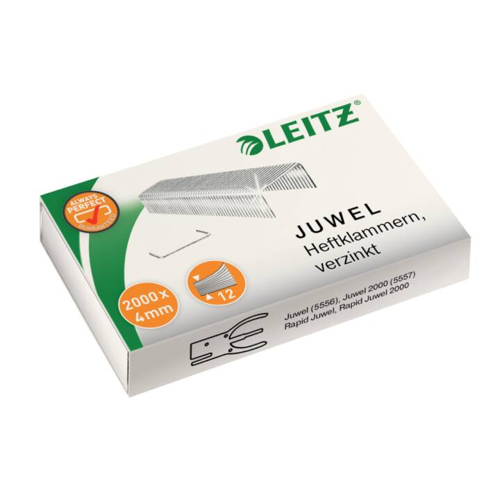 LEITZ Juwel punti metallici, 4 mm, zincato, 2000 pz.