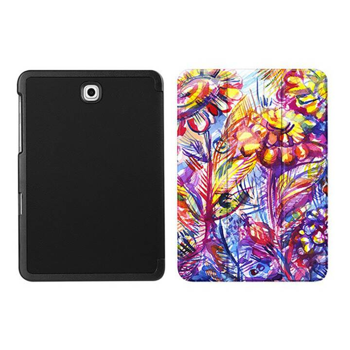 """EG MTT Coque tablette pour Samsung Galaxy Tab S2 8"""" - Fleur pourpre"""
