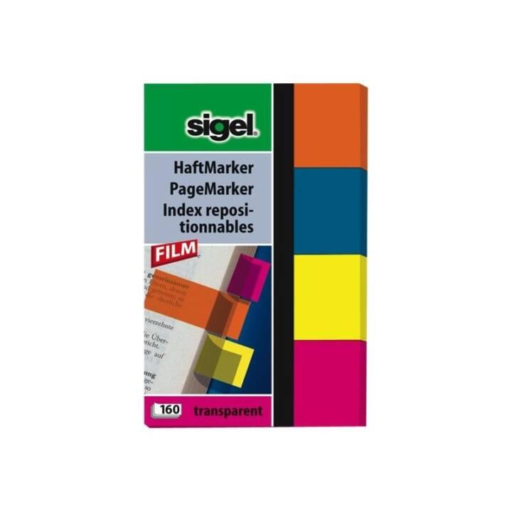 SIGEL Notes 20x50mm 4 couleurs ass. 160 feuilles